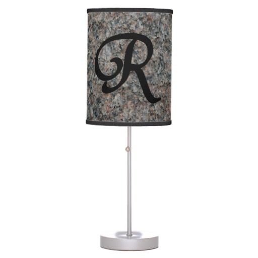 Monogram R Lamp in a Box  #homedecor  $44.95
