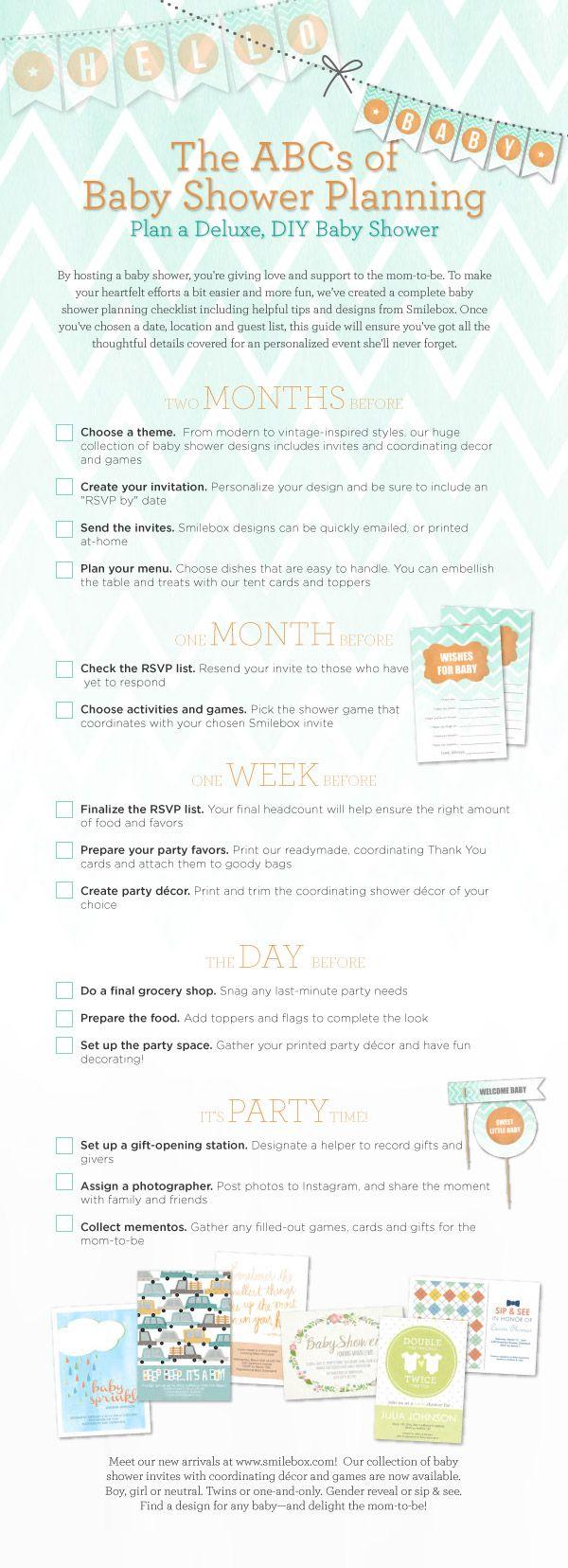 baby shower planning timeline