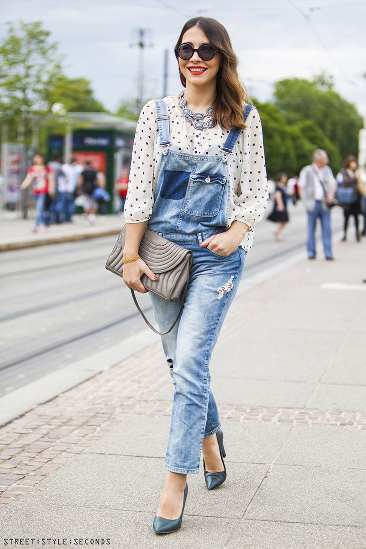 These Overalls Outfits for Hipster Look for Women and Teenage Girls prove that even in elegant look, you can always combine your shirt with the denim overall and also the high heels. Description from lafatre.com. I searched for this on bing.com/images