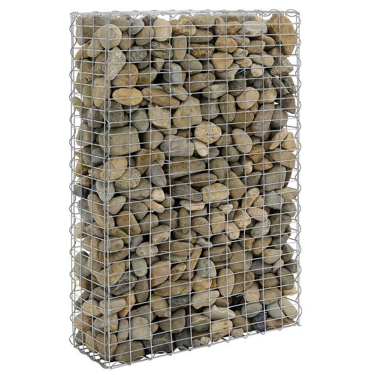 Zur Befüllung kann man verschiedene Materialien verwenden, wie z.B. Schotter oder Naturstein, Basalt, Kalksandstein oder Flußkiesel. Gabionen sind befüllte Drahtschotterkörbe und eignen sich hervorragend zum schnellen Bau von Sicht- und Lärmschutzmauern. | eBay!