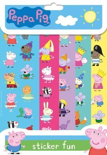 Black friday 2014 childrens kids peppa pig 5 x sheets sticker fun party loot bag fillers reusable from the home fusion company cyber monday