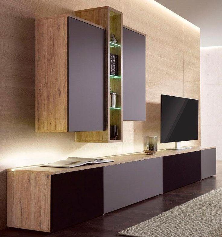 INOSIGN Wohnwand Braun Mit Beleuchtung Push To Open Funktion FSCR Zertifiziert Jetzt Bestellen Unter