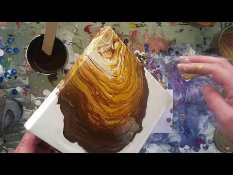(16) 026 Brown and Bronze Spiral Pour colour test - YouTube
