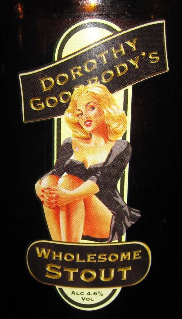 Dorothy Goodbody's Wholesome Stout is a English Stout style beer brewed by Wye Valley Brewery in Stoke Lacy, United Kingdom