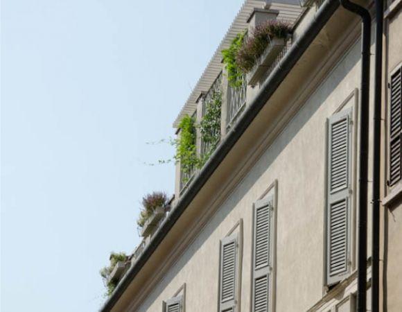Una bellissima terrazza sul tetto