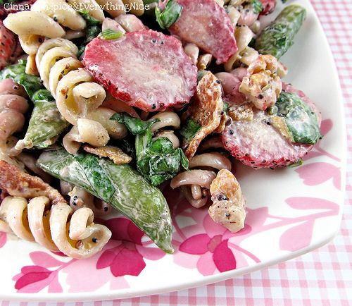 Strawberry and Spinach Pasta Salad