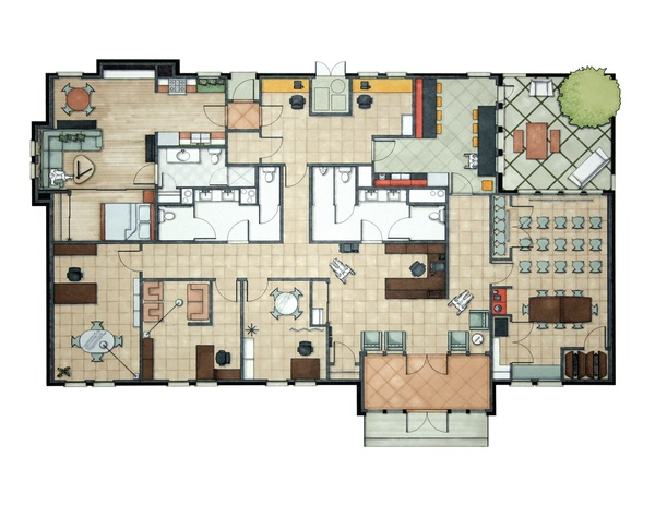 17 best images about hand rendering on pinterest paul for Rendered floor plan