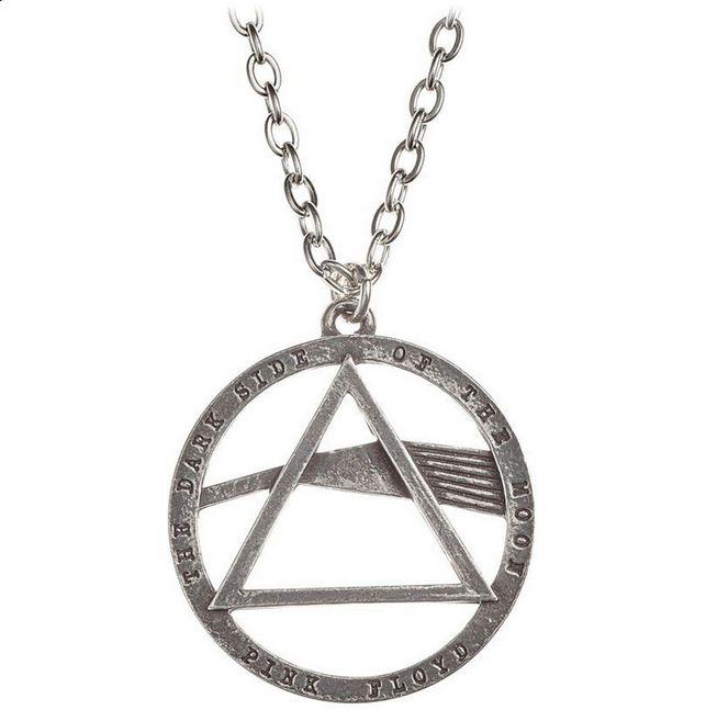 PINK FLOYD Dark Side Prism Pendant Necklace   #pinkfloyd #darksideofthemoon #rockabilia #licensedmerchandise #merchandise #merch #necklaces #dogtags #metalchain