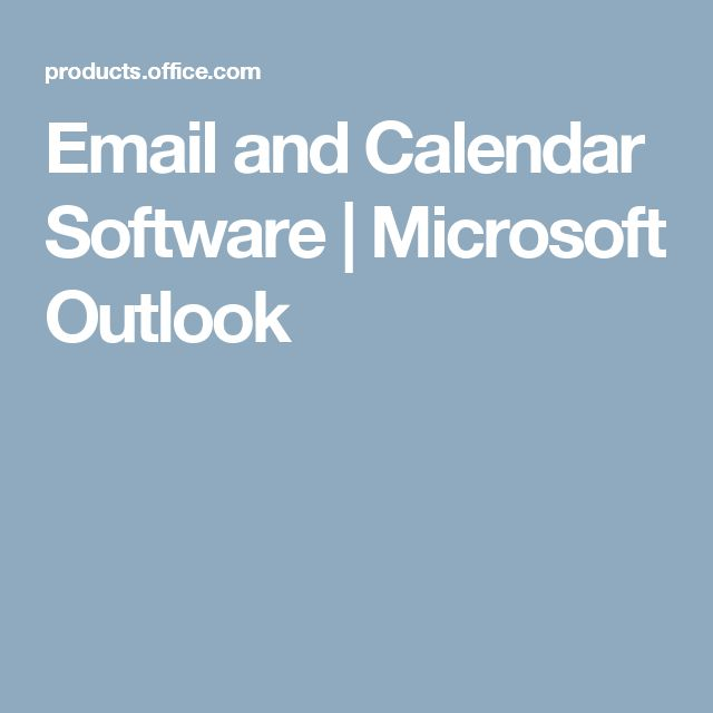 Email and Calendar Software | Microsoft Outlook