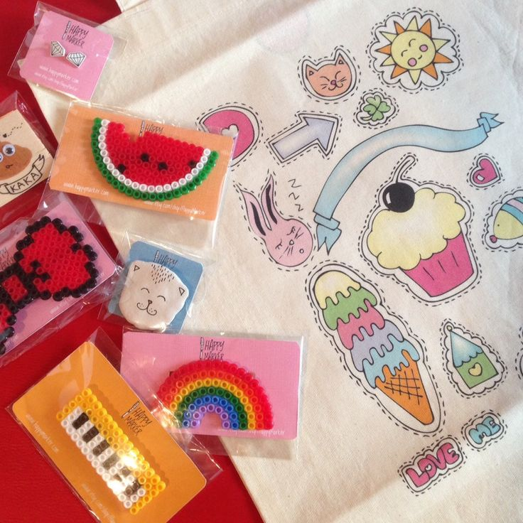 HappyMarker on Etsy - Shop Updates #cute #handmade #craft #brooch #fashion #kawaii #sweet #totebag #rainbow #illustration #pixel #bow #rainbow #cupcake