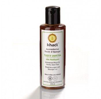 Gel de dus bio, natural pe baza de plante folosite pentru toate tipurile de piele in special pentru cea mixta. Gelul de dus Khadi cu Tulsi si Jamrosa este ideal pentru toate tipurile de piele, in special pentru pielea mixta. Parfumul gelului de dus este dat de uleiul esential de Jamrosa.