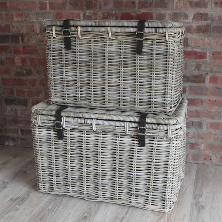 Extra Large Square Log Basket Wheels Toy Baskets