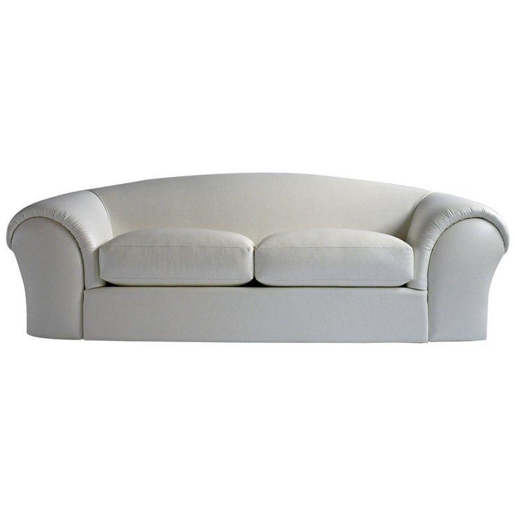 Robert Venturi White Leather Sofa For Knoll