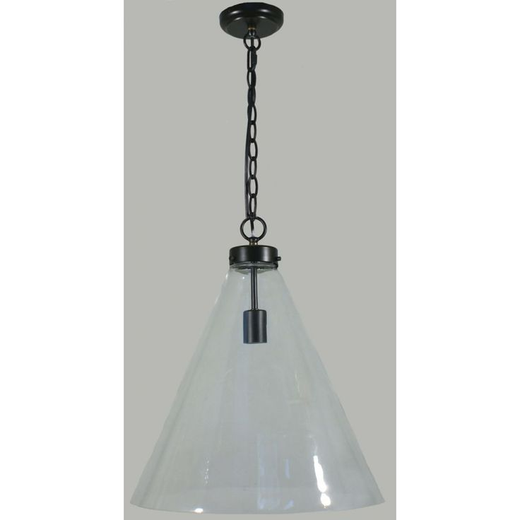 The Gatsby Large Pendant Light is a classical, yet industrial style glass pendant light. This ceiling light is versatile and can be recommended for both a modern and traditional home. It features a simplistic chain assembly, which suspends a rounded triangular shaped glass. If you are looking for a contemporary lighting piece, look no further.Globe Specification: 1 x 60w E27 Max.Dimensions:Height - 530mm.Width - 440mm.Chain Length - 1000mm - (Adjustable).Power Rating: 240v.IP Rating…