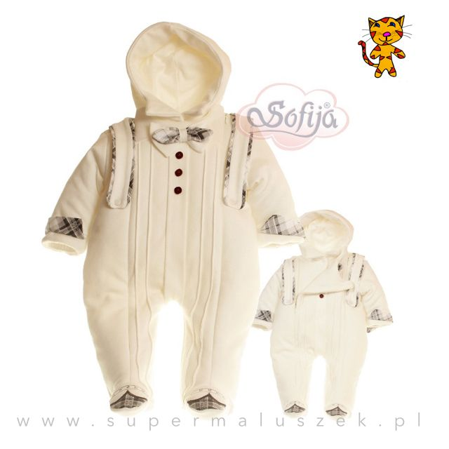 Elegancki pajacyk dla chłopca. Wykonany z bawełnianej tkaniny, dodatkowo został wyposażony w ocieplinę. Idealny na chłodniejsze dni. #boy #child #gift #birthday #prezent #chlopiec