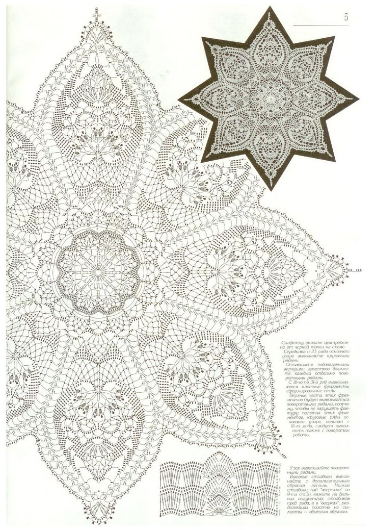 Crochet Doily Diagram Patterns Wiring Diagram And Electrical