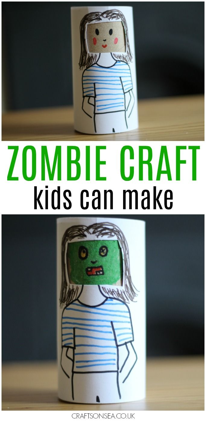 Easy Zombie Craft For Kids Crafts On Sea Blog Crafts For Kids