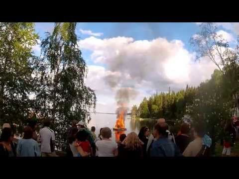 Midsummer Festivity during solstice in eastern Finland and the lakelands with scenting polar roses blooming and people getting together around the Midsummer bonfire | Juhannus tunnelmia Alamajalla 2013 - YouTube