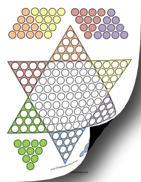 25 best ideas about chinese board games on pinterest for Chinese checkers board template