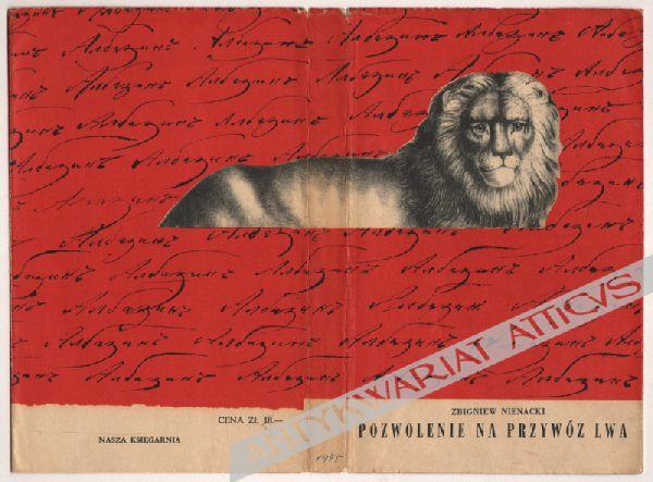 Pozwolenie na przywóz lwa