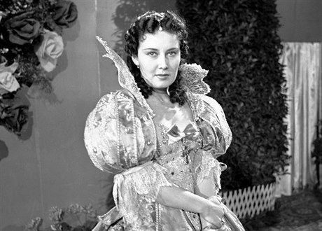 "Lida Baarova in the movie ""The Girl in Blue"" (1939)."