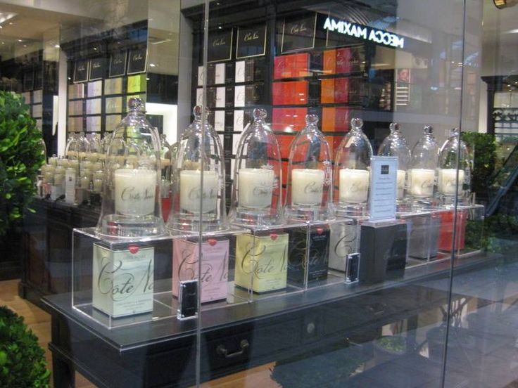E-candle display in the front window of our Cote Noire Doncaster Store #cotenoire #ecandle