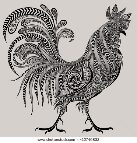Gorgeous cock of patterns for the new year 2017