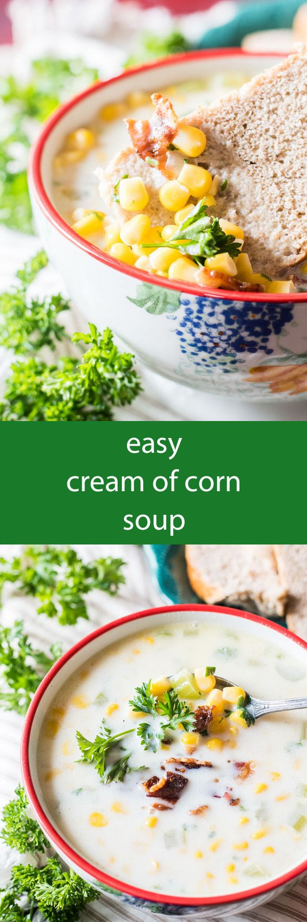 An easy, cream of corn soup made on your stove top. This comforting soup pairs well with a crusty bread and side salad. An Amish country favorite recipe.