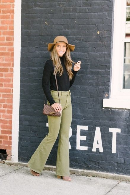 0c2a3412ee08 Free People Brooke Flare Jeans - Green