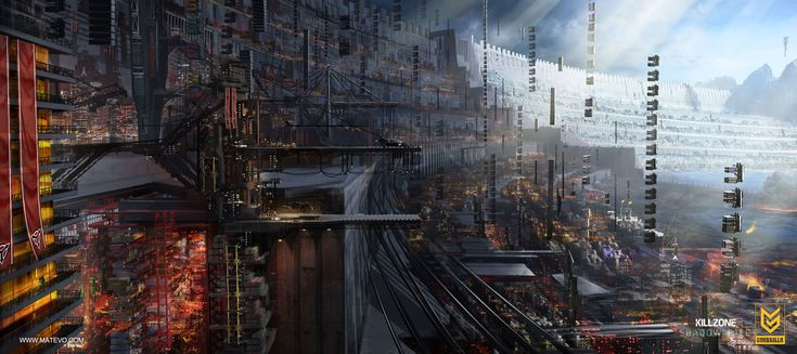 ArtStation - KILLZONE 4 SHADOW FALL Container City , Ruben Matevosyan