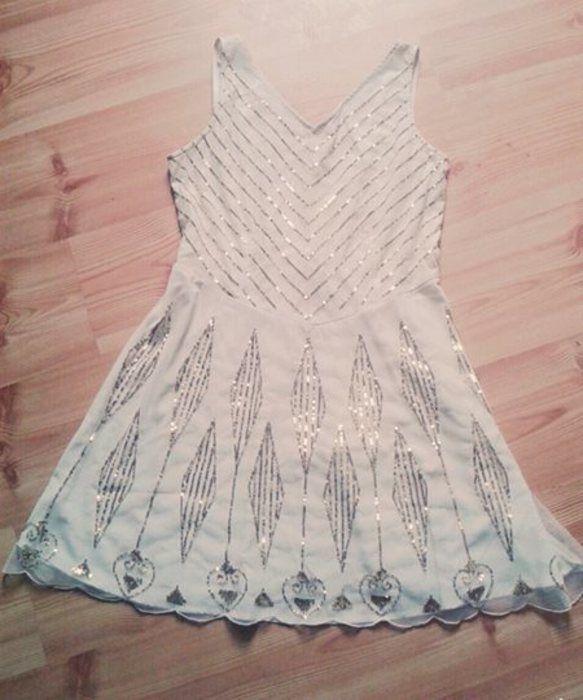 Oryginalna piękna sukienka cekiny wycięcie dekolt V cubus xl - vinted.pl