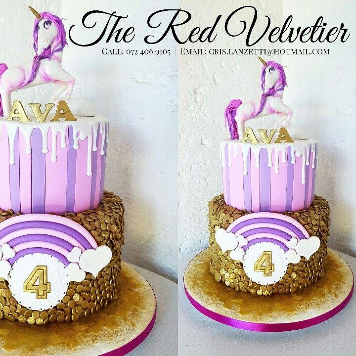 Beautiful 2 tier Unicorn theme cake!!
