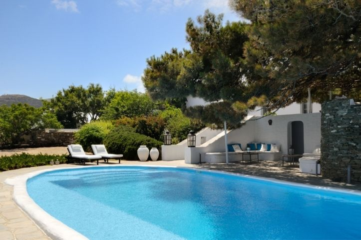 Villa Sifnos is a luxury villa rental with pool and sea view in Greece located in Sifnos Island, the (alleged) birthplace of Apollo and a lovely green Cycladic island