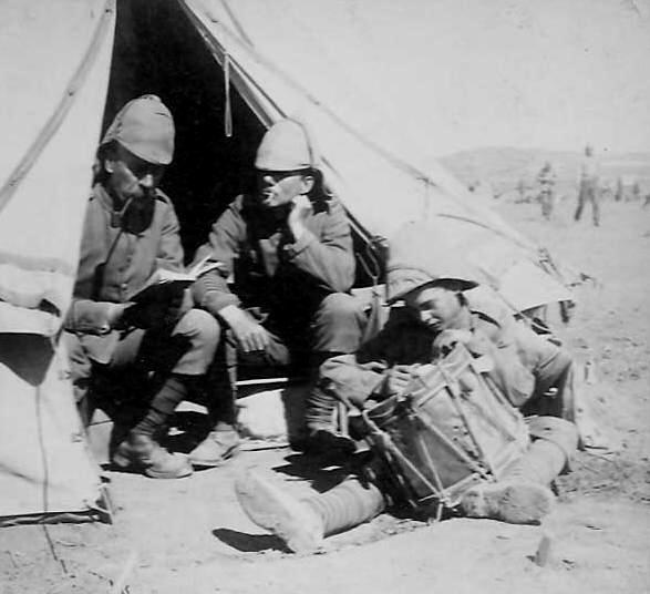 British Troops on Campaign. Boer war 1901