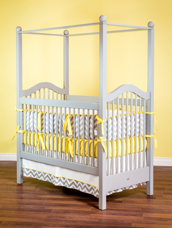 Beautiful crib and color combo!