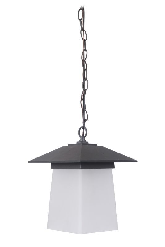 Craftmade Z2011-NRG Terrace 1 Light Outdoor Pendant - 8.66 Inches Wide Textured Black / Whiskey Barrel Outdoor Lighting Pendants