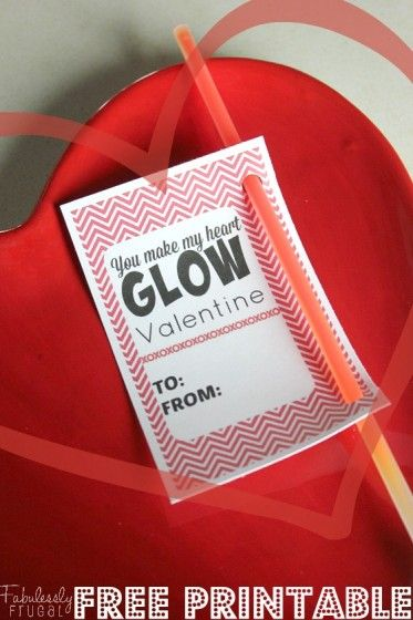 You Make My Heart GLOW Valentine! Get a free printable and the braclets for only $0.08 each!