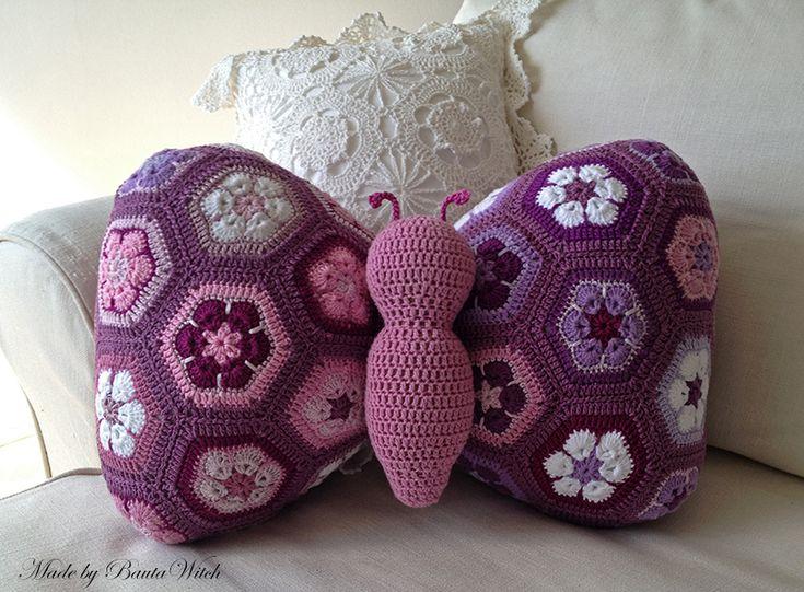 Amigurumi Butterfly Pillow Free Crochet Pattern