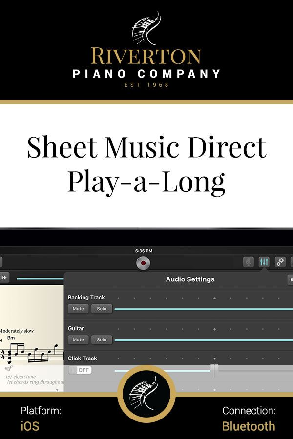 Riverton Recommended] Sheet Music Direct PlayAlong (by Hal-Leonard