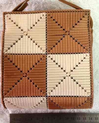 Bolso Canvas En Cintas Figuras Geometricas -tejido Manual - Bogotá - Cundinamarca - Ropa - Moda - Accesorios - Zapatos