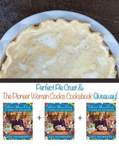 The Pioneer Woman Perfect Pie Crust Recipe using crisco and butter! Tender and flaky & so good!