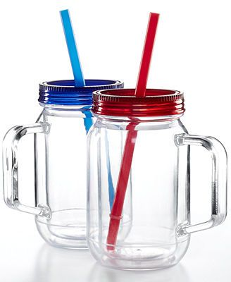 Martha Stewart Collection Acrylic Mason Jar  Perfect 16 oz! $8