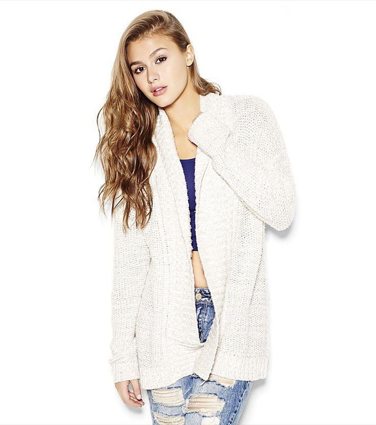 Open Cardigan. #sweaters #cardigans