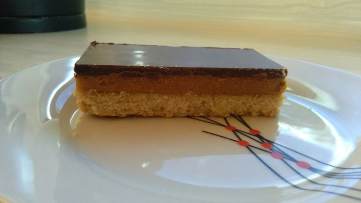 Homemade caramel slice