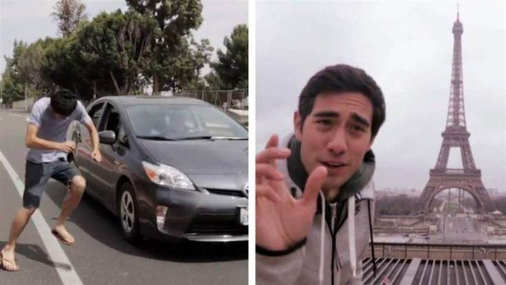 Har du någonsin sett någon plocka upp Eiffeltornet med två fingrar? Den här killen får det i alla fall att se ut som han kan göra det. Zach King är känd från Vine på grund av hans enastående visuella effekter.