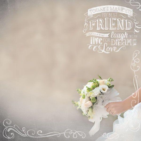Wedding Bridal Bouquet Scrapbook Paper
