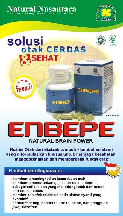 ENBEPE Nutrisi Otak Alami ENBEPE (Natural Brain Power) adalah suplemen kesehatan alami yang diformulasikan khusus untuk menjaga, mengoptimalkan, dan memperbaiki fungsi otak.