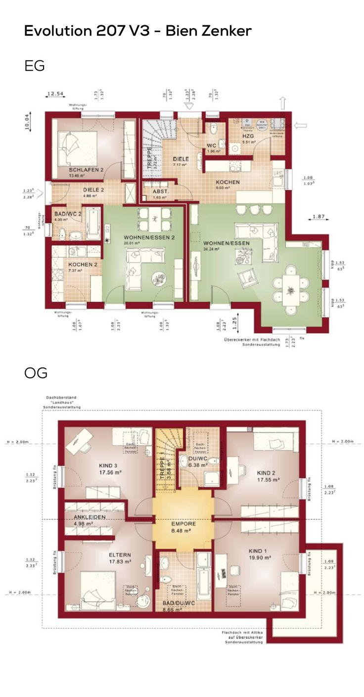 23 besten grundriss zweifamilienhaus bilder auf pinterest for Zweifamilienhaus grundriss