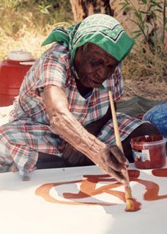 """Emily Kame Kngwarreye """"is one of the most prominent and successful artists in the history of contemporary Indigenous Australian art."""""""
