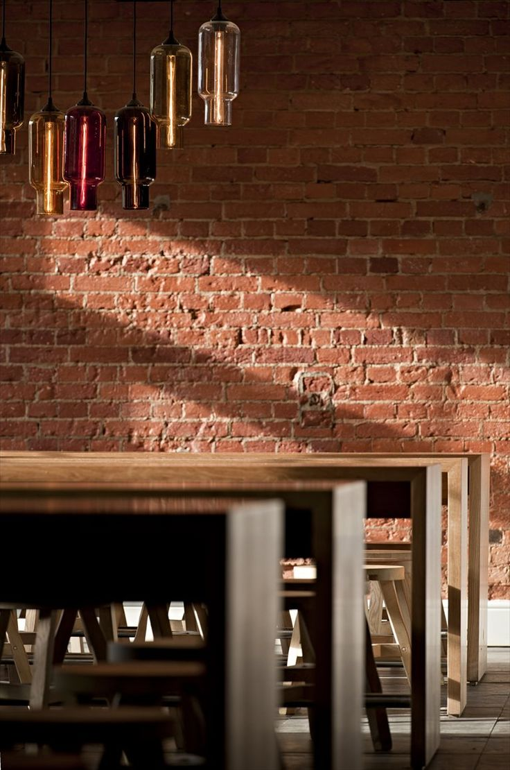 Amazing Restaurant Interiors By SHH: Red Brick Usage In Modern Coach House  Restaurant Part 85